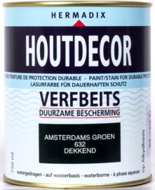 Hermadix Houtdecor Verfbeits Amsterdams Groen 632 750 ml
