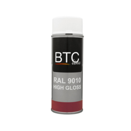BTC  Spray Ral 9010 Hoogglans 400 ml