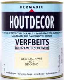 Hermadix Houtdecor Verfbeits Gebroken Wit 601 750 ml