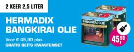 2 keer 2,5 liter Hermadix Bangkirai Olie