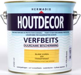 Hermadix Houtdecor Verfbeits Transparant Blank Vuren 659 2,5 liter