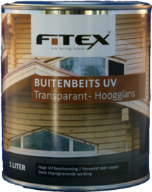 Fitex Buitenbeits UV Transparant Hoogglans 1 liter
