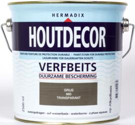Hermadix Houtdecor Verfbeits Transparant Grijs 660 2,5 liter