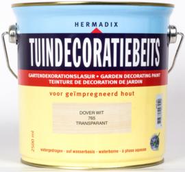 Hermadix Tuindecoratiebeits Transparant Dover Wit 765 2,5 liter