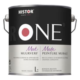 Histor One Muurverf Vochtregulerend & Afwasbaar 1 liter