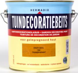 Hermadix Tuindecoratiebeits Transparant Oker Geel 762 2,5 liter