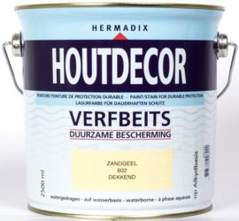 Hermadix Houtdecor Verfbeits Zandgeel 602 2,5 liter