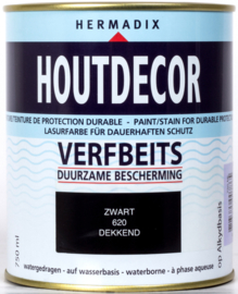 Hermadix Houtdecor Verfbeits Zwart 630 750 ml