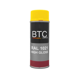 BTC Spray Professional Ral 1021 Hoogglans 400 ml