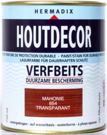 Hermadix Houtdecor Verfbeits Transparant Mahonie 654 750 ml