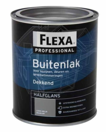 5 keer 750 ml Flexa Professional Halfglans Lood Grijs ON.00.49