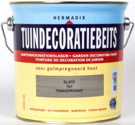 Hermadix Tuindecoratiebeits Transparant Slate Grijs 787 2,5 liter