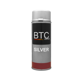 BTC Spray Professional Zilver Hoogglans 400 ml