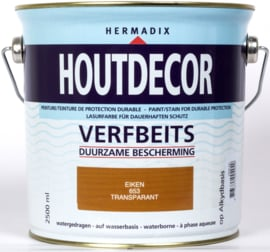 Hermadix Houtdecor Verfbeits Transparant Eiken 653 2,5 liter