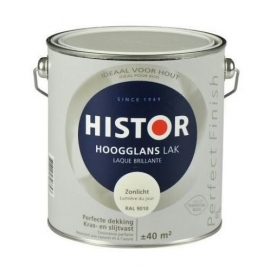 Histor Perfect Finish Leliewit Hoogglans 1,25 liter.