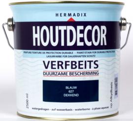 Hermadix Houtdecor Verfbeits Blauw 627 2,5 liter