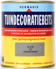 Hermadix Tuindecoratiebeits Transparant Slate Grijs 787 750 ml