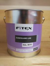 Fitex Zijdeglans Lak Ral 9010 2,5 liter