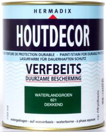 Hermadix Houtdecor Verfbeits Waterland Groen 621 750 ml