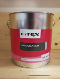 Fitex Hoogglans Lak Ral 9010 2,5 liter