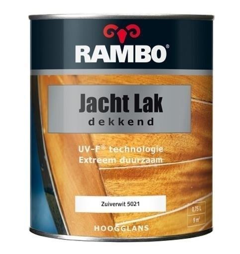 Rambo Jachtlak Dekkend Zuiverwit 5021 Hoogglans 250 ml