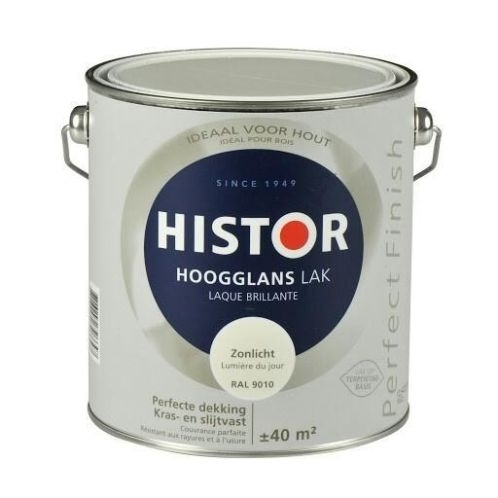 Histor Perfect Finish Katoen Ral 9001 Hoogglans 1,25 liter.