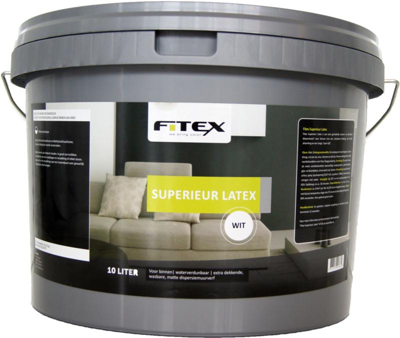 10 keer 10 liter Fitex Superieur Latex
