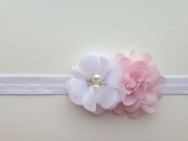002 Haarband smal 2 bloemen