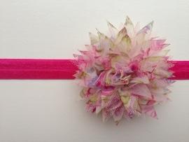 038 haarband grote bloem