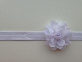 002 Haarband smal kleine bloem