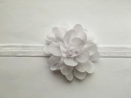 056 haarband grote bloem