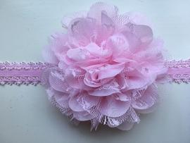 087 haarband grote bloem