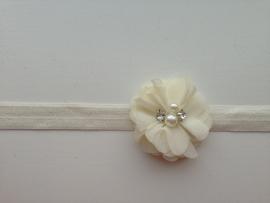 010 Haarband smal kleine bloem