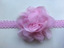 088 haarband grote bloem