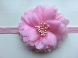 086 haarband grote bloem
