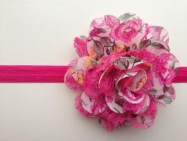 036 haarband grote bloem