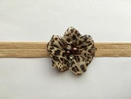 034 haarband smal kleine bloem