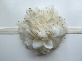 069 haarband grote bloem