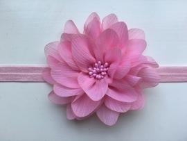 084 haarband grote bloem