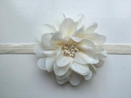 068 haarband grote bloem