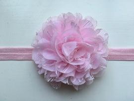 079 haarband grote bloem