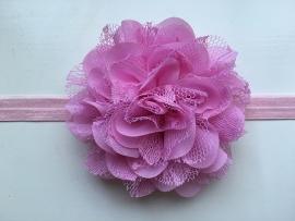 081 haarband grote bloem