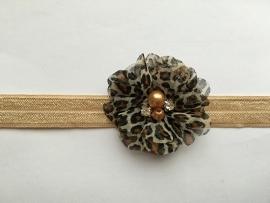 035 haarband smal kleine bloem