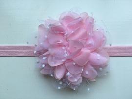 082 haarband grote bloem