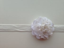 009 Haarband smal kleine bloem