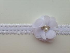 007 Haarband smal kleine bloem