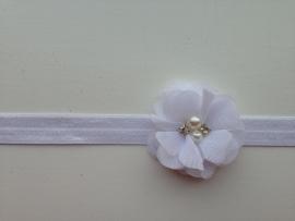 001 Haarband smal kleine bloem