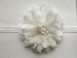 058 haarband grote bloem