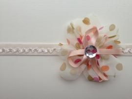 009 haarband grote bloem
