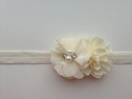008 Haarband smal 2 bloemen